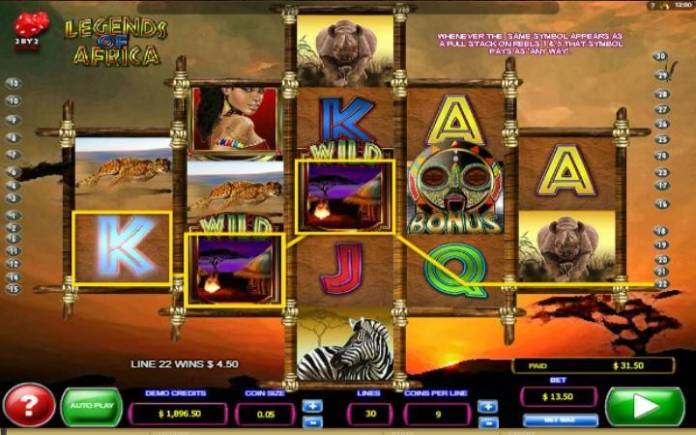Džokeri-online casino bonus-legends of africa-microgaming