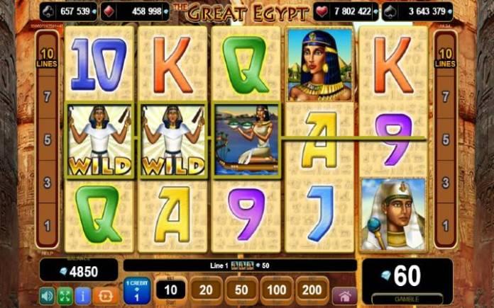 džoker-online casino bonus-kockanje-the great egypt