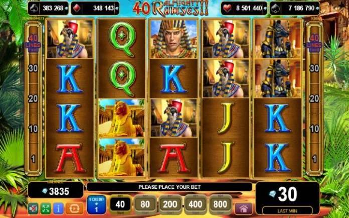 40 Almighty Ramses 2-online casino bonus-egt