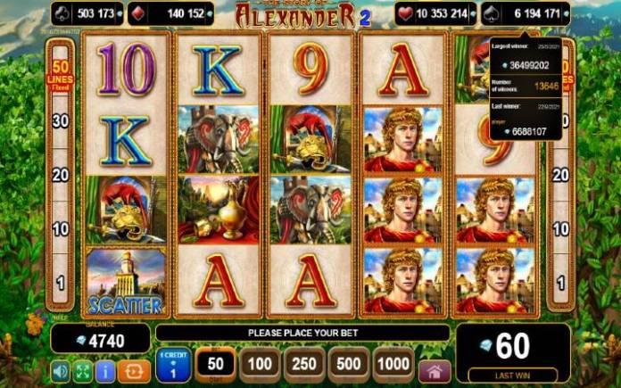 the story of alexander 2-online casino bonus-egt