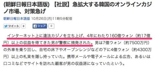 _朝鮮日報日本語版__【社説】急拡大する韓国のオンラインカジノ市場、対策急げ_(朝鮮日報日本語版)_-_Yahoo_ニュース