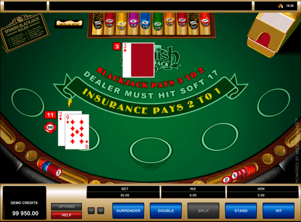 Play Spanish Blackjack by Microgaming | FREE BlackJack Games