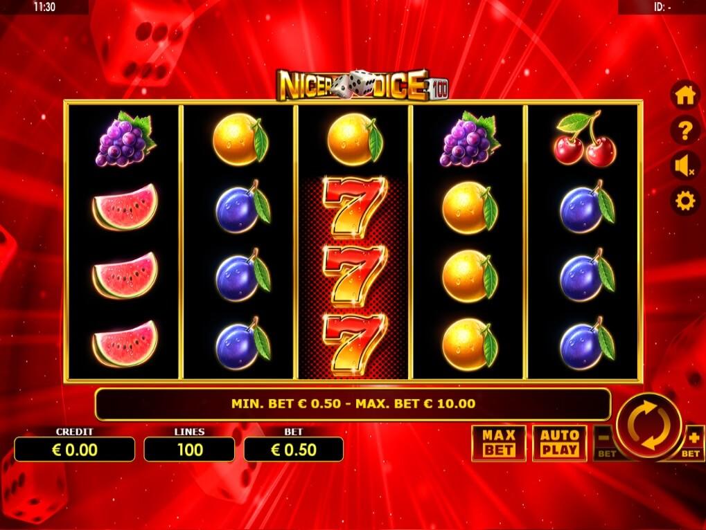 Speel Nice Dice 100 bij Spinia Casino