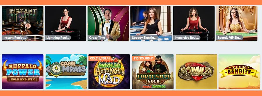 Speedy Casino spelaanbod