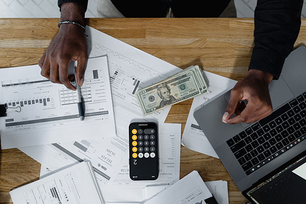 Online deposit slips