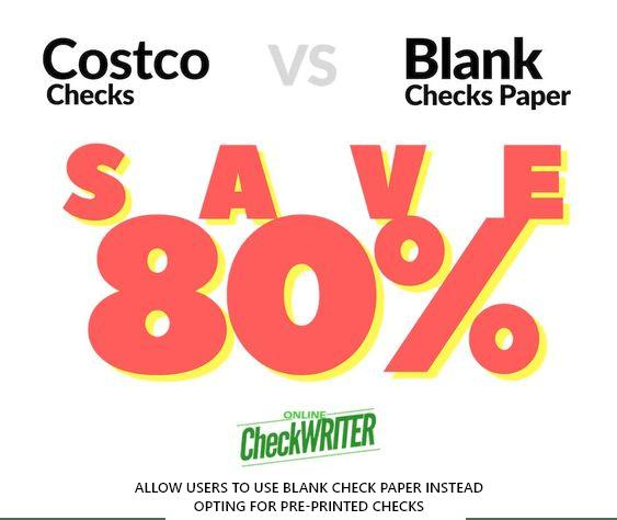 Costco Checks vs Blank Check Paper