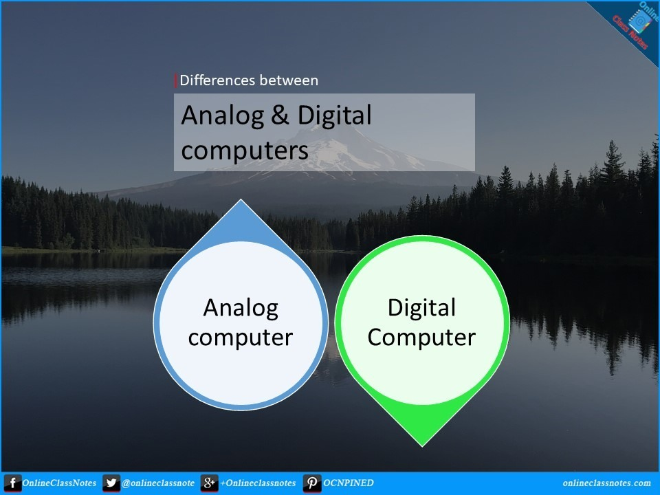 differences between analog and digital computer