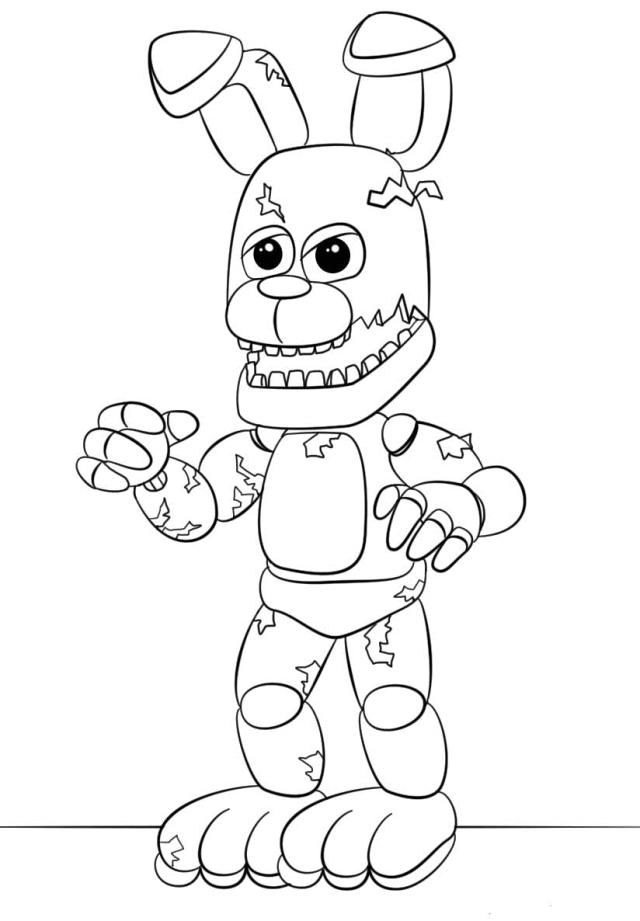 fiveghts-at-freddys-coloring-sheets-freddy-pages-fiveights-mangle
