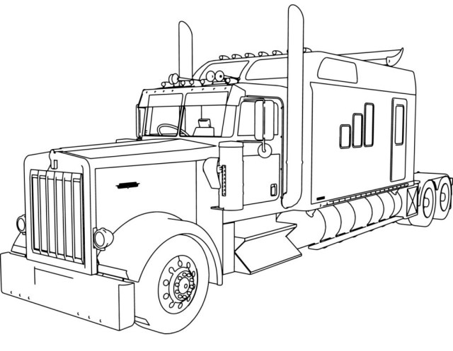 Top 20 Printable Truck Coloring Pages - Online Coloring Pages