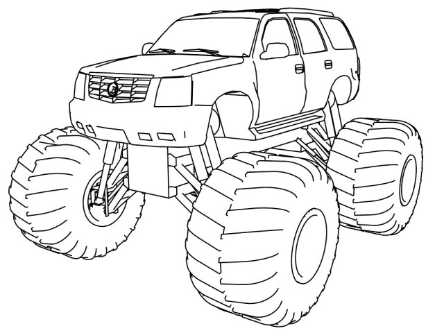 Top 27 Printable Monster Truck Coloring Pages - Online Coloring Pages