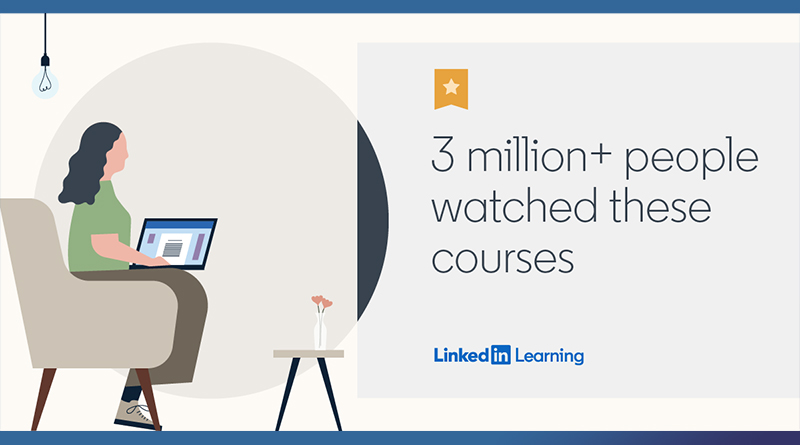 top 20 LinkedIn learning  courses of the year