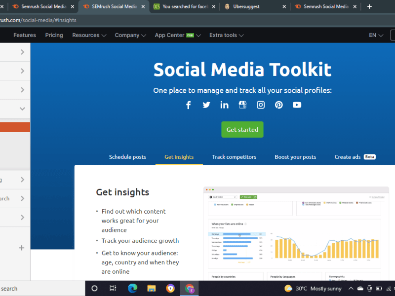 Learn to use the free SEMrush social media tool for every platform
