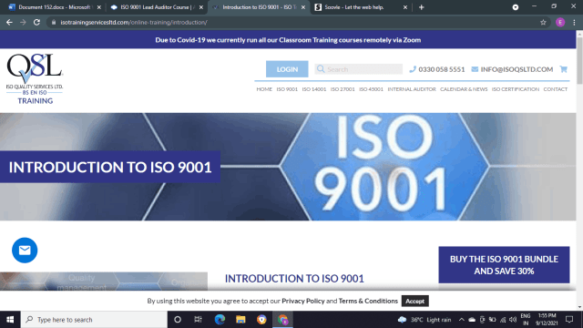 QSL: Introduction to ISO 9001