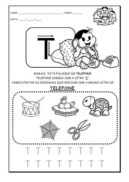 50 Atividades Com A Letra T Para Imprimir Alfabetizacao 1º Ano