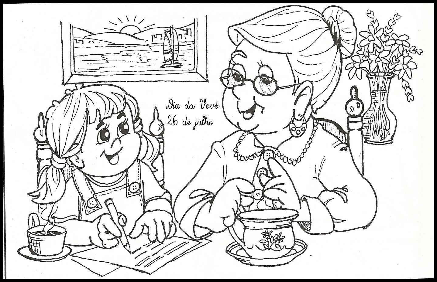 20 Desenhos De Vovo E Vovo Para Imprimir E Colorir Online Cursos