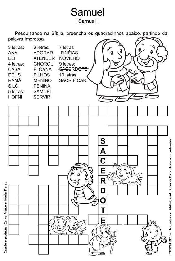 30 Palavras Cruzadas Biblicas Para Imprimir Ou Baixar Em Pdf
