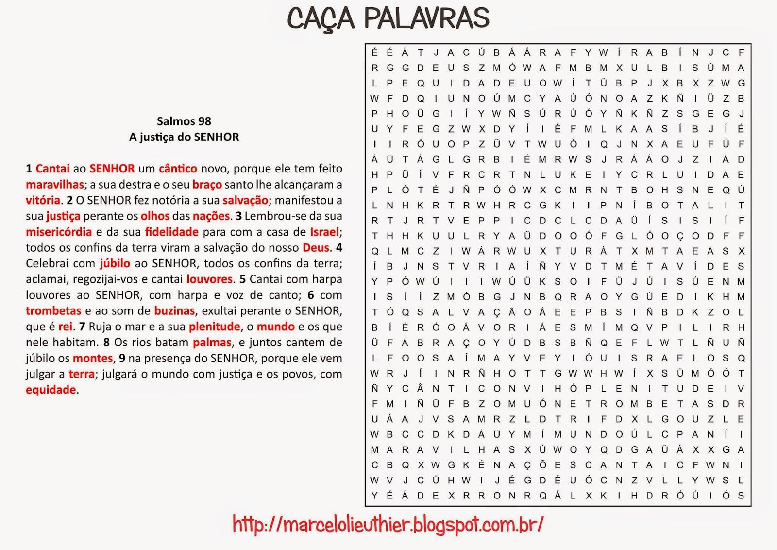 40 Atividades Com Caca Palavras Biblico Para Imprimir Online