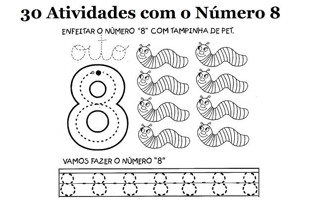 30 Atividades Com O Numero 8 Para Imprimir Educacao Infantil E