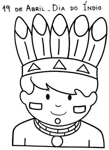 30 Desenhos Dia Do Indio Para Colorir E Imprimir Online Cursos