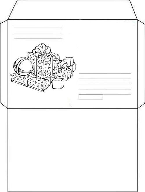 10 Envelopes Para Cartinhas De Natal Para Baixar E Imprimir