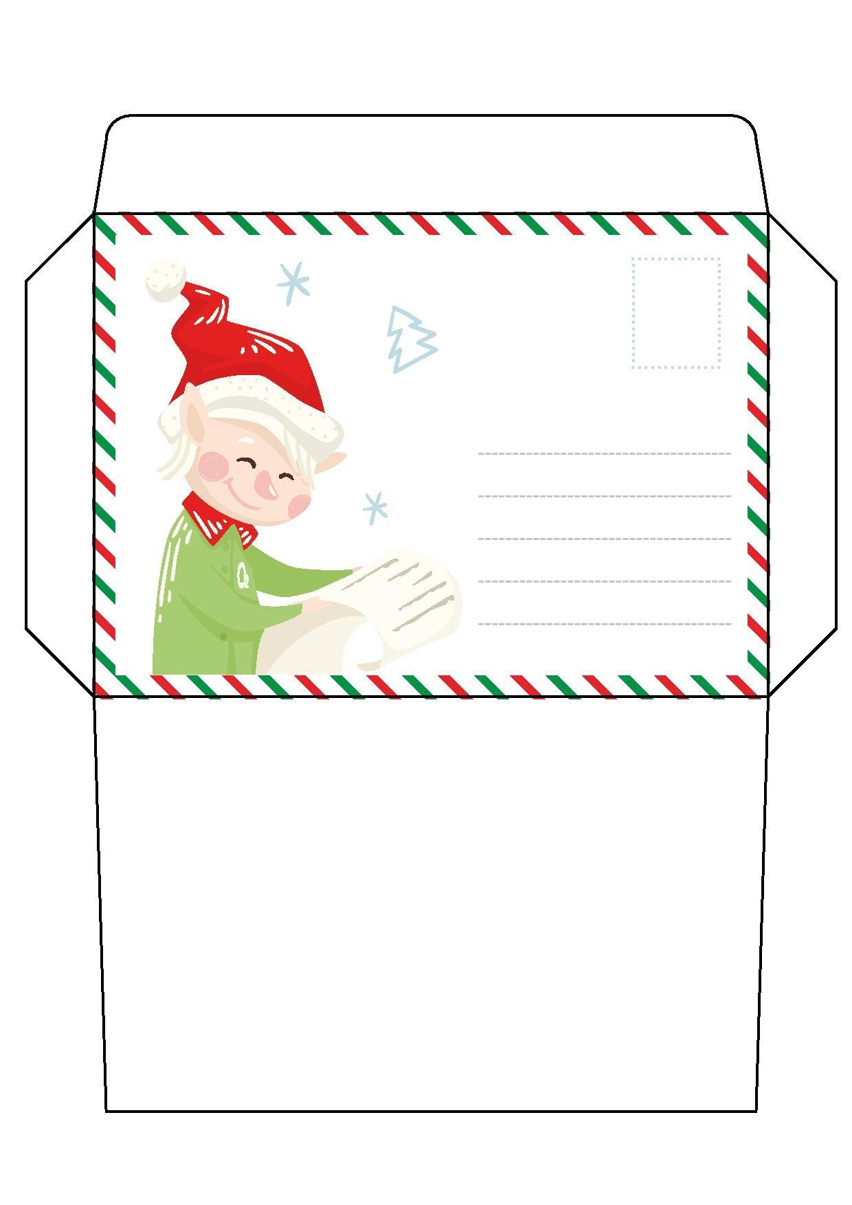 10 Envelopes para Cartinhas de Natal para Baixar.