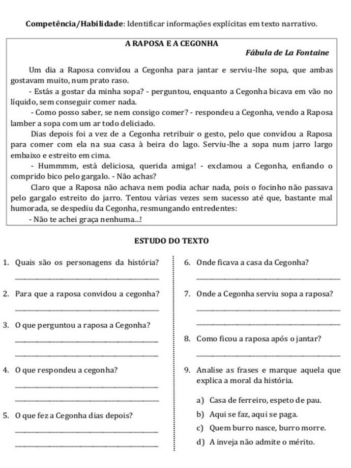 30 Atividades De Interpretacao De Texto 5º Ano Para Imprimir