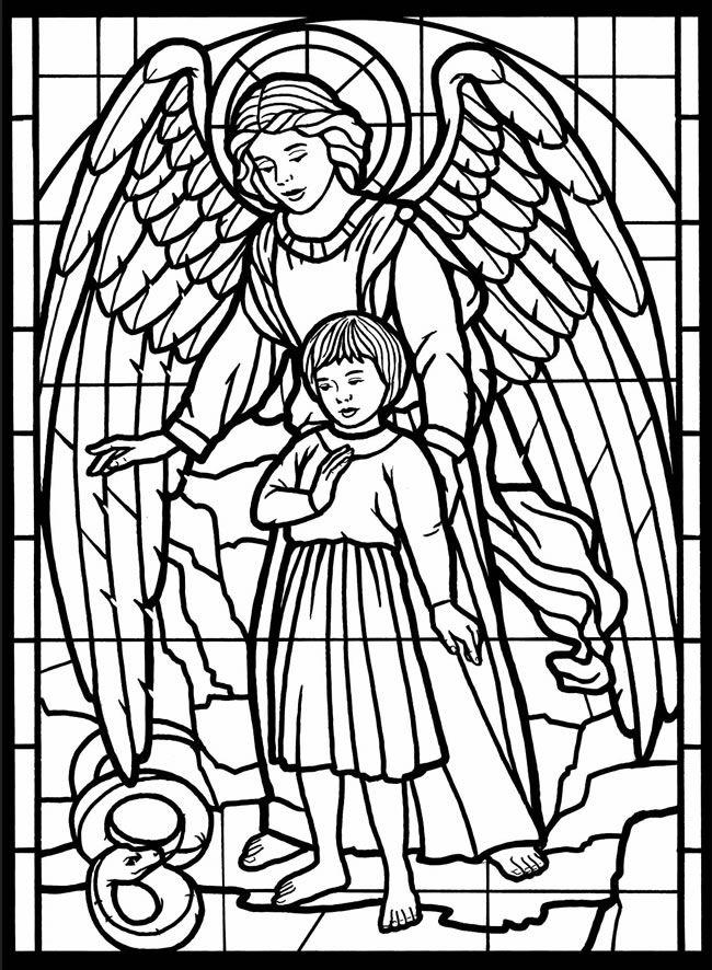 18 Desenhos Santos Anjos Da Guarda Para Imprimir E Colorir