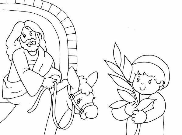10 Desenhos Domingo De Ramos Para Colorir E Imprimir Online