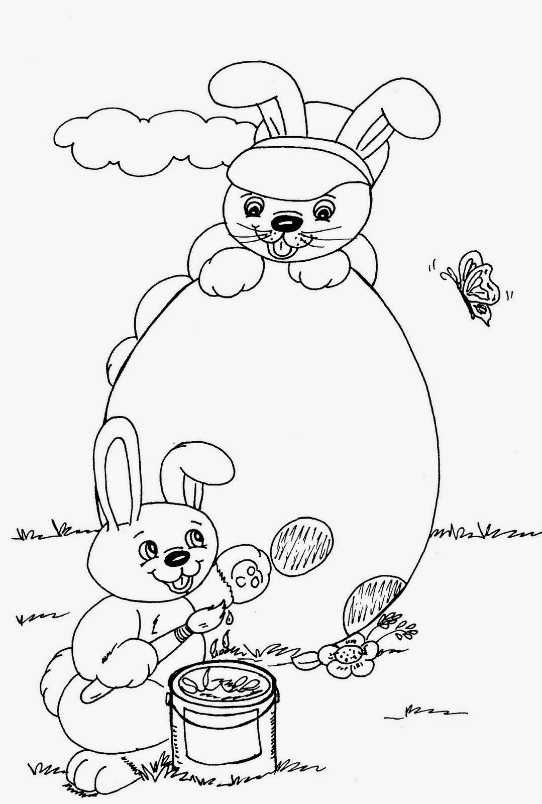 30 Desenhos Do Coelho Da Pascoa Para Colorir E Imprimir Online