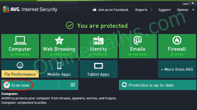 AVG internet ativirus