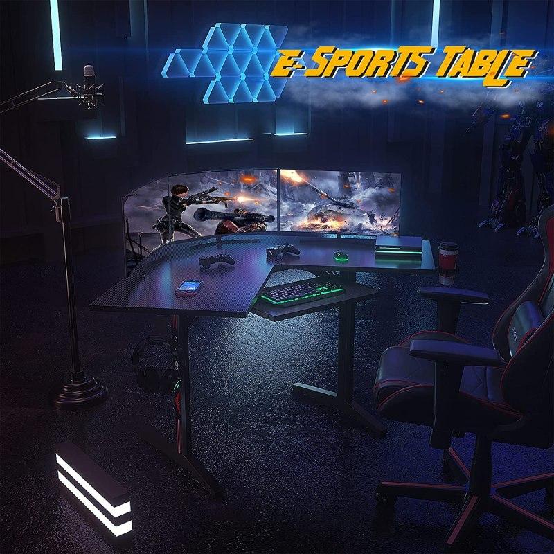 Ecoprsio L Shaped Gaming Desk Corner Desk