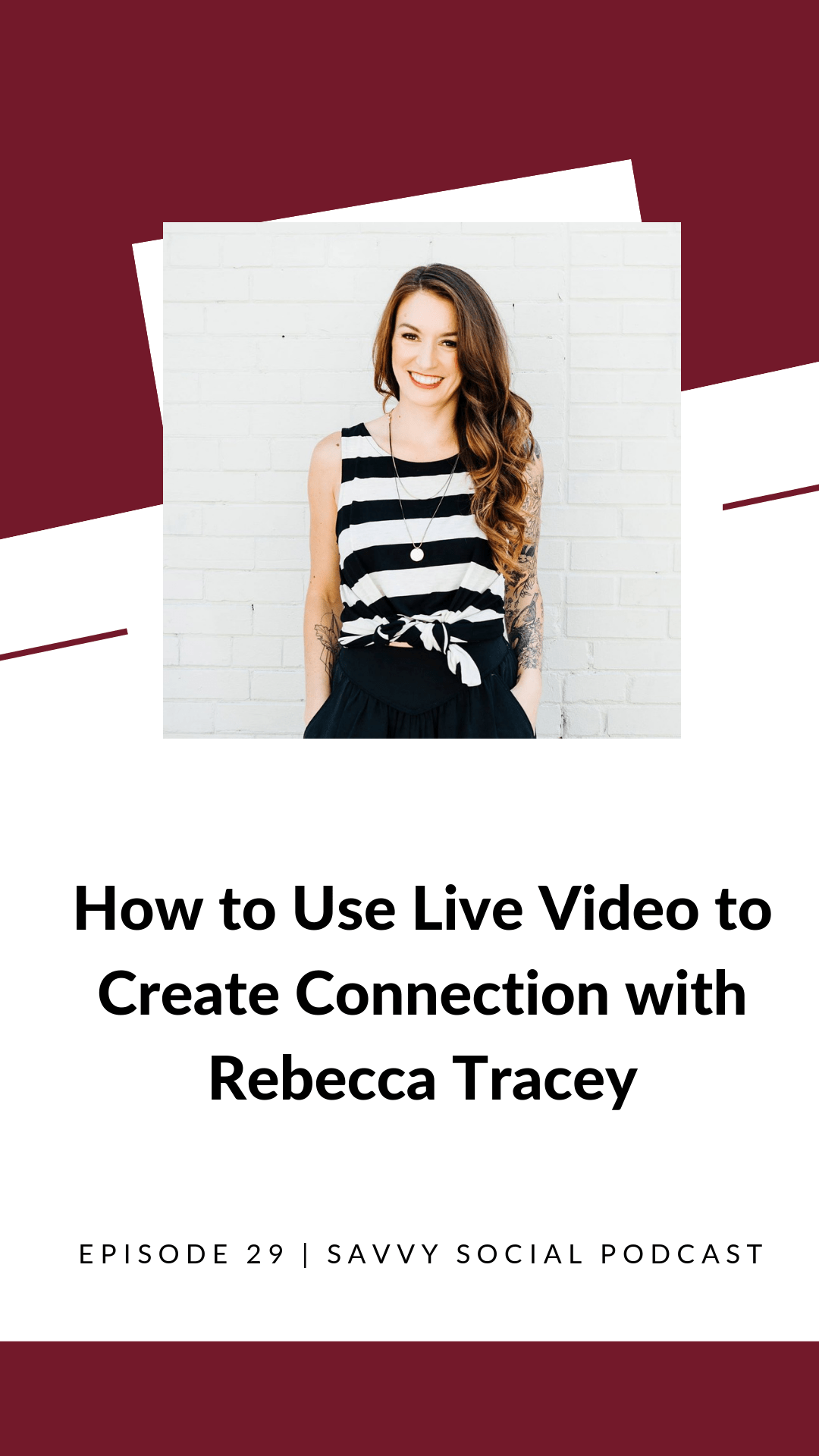 Even though we live in a digital world, we often forget how to connect with others on an individual level. Creating genuine connections is crucial to having a successful business, so today Rebecca Tracey is here to share how to use live videos to build a stronger connection with your audience.