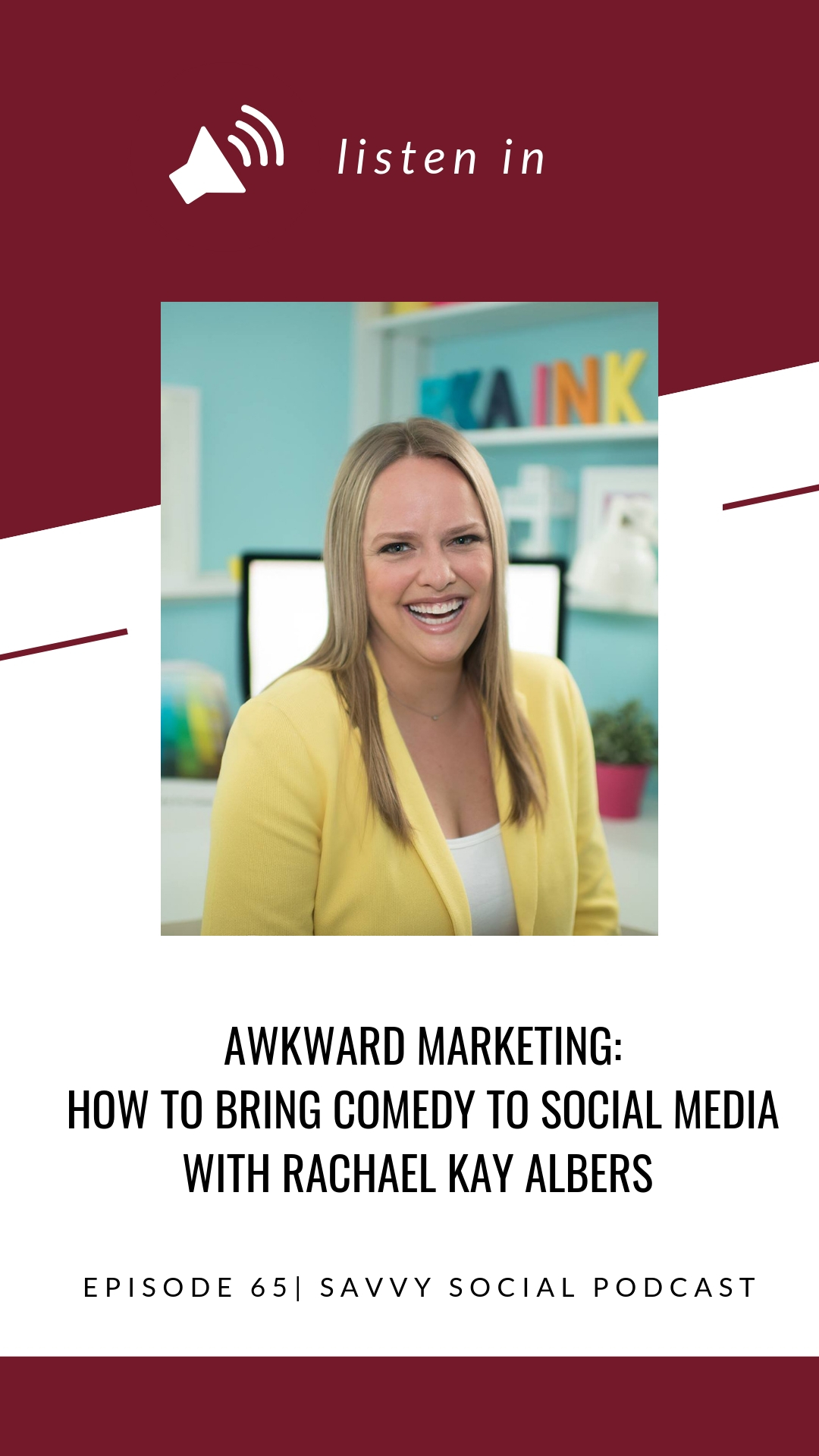 Online marketing, email marketing, social media marketing—it can all be awkward and uncomfortable, especially if you're a new entrepreneur or business owner! Rachael Kay Albers from Awkward Marketing joins me today to share where the best content comes from, what tools you need for your online business, how to repurpose and share your episodes on social media, and the value of getting your audience involved in your process!