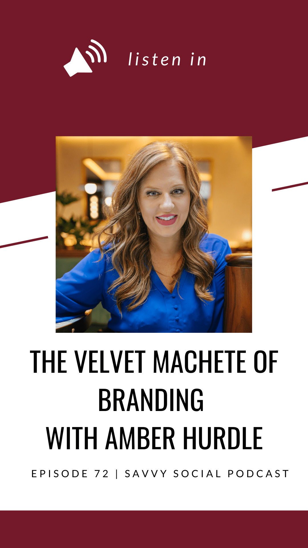 Amber Hurdle shares branding tips for your business, the importance of making yourself different and tons of strategy and social media tips for business owners.
