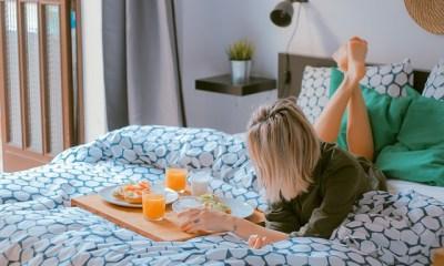 Breakfast on Bed Sheet