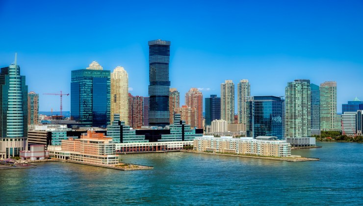 A New Jersey cityscape.