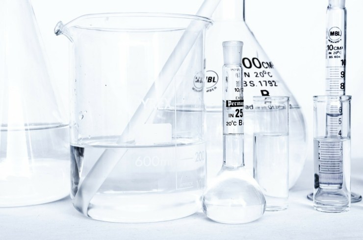 Chemicals at a lab, where biophmarmaceutical professionals are proving every day that this is one of the top industries in New Jersey.