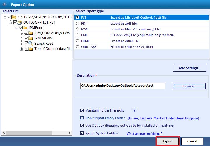 How to Repair a PST File of POP3 Account in Outlook 11