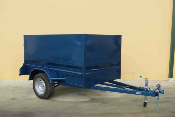 Box Trailer With Sheet Metal Cage 1