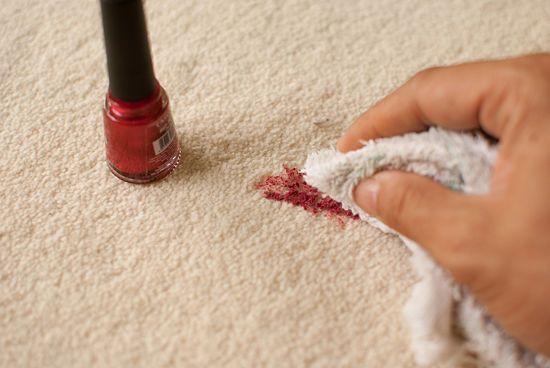 Nail polish stain