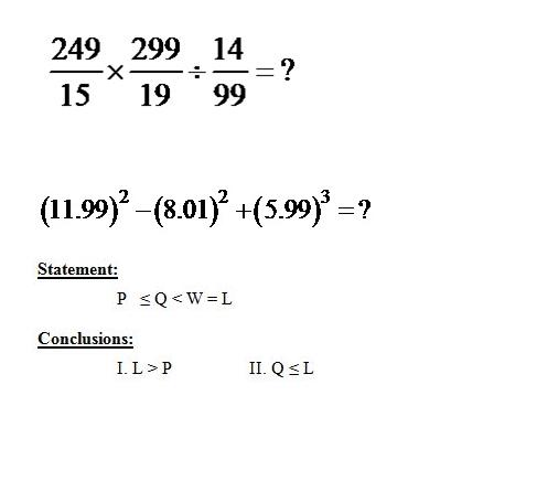 Mathematics Aptitude Questions