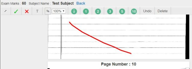 Blank Page annotations for Onscreen Evaluation System