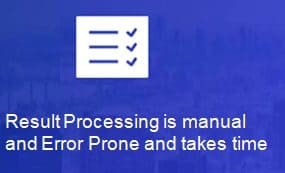 Manual Result Processing for traditional process