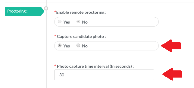Candidate Photo Capturing Process