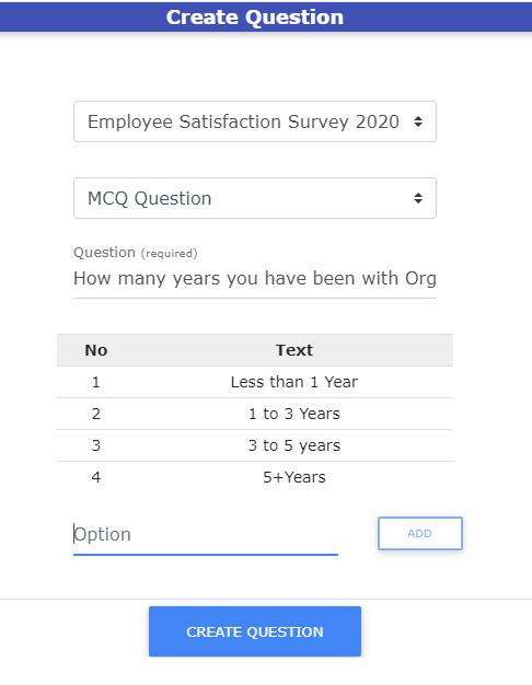 Create Survey Questions
