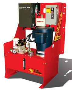 Schweiss Doors develops new 'Red Power' Hydraulic Pump