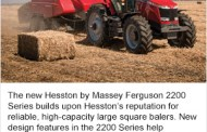 Hesston by Massey Ferguson Introduces 2200 Series Large Square Balers
