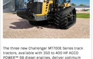 Challenger Launches MT700E Series Track Tractors
