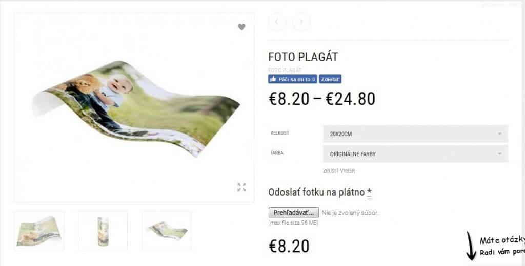 ako si objednat fotku na platne vyber produktu pre nakup