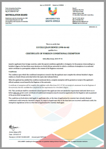 foreign exemption certificate after the GED
